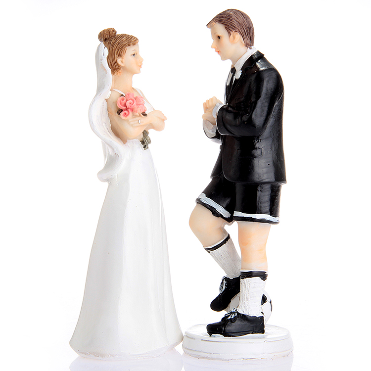 Soccer Groom & Exasperated Bride Wedding Cake Topper For Wedding ...