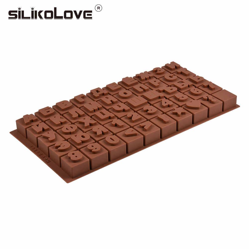 รัสเซียตัวอักษรซิลิโคนแม่พิมพ์ตัวอักษรช็อกโกแลตแม่พิมพ์ 3D เค้กตกแต่งเครื่องมือถาด Fondant แม่พิมพ์วุ้นคุกกี้เบเกอรี่ Mo