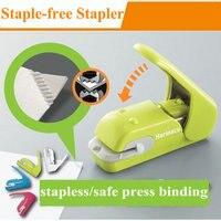 Creative Hot Staple Free Stapler Office Manual Mini Stapler Safe Paper Stapler Without Staple