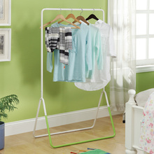 Dry Green/Blue White Dry Clothes Hanger Floor Indoor Single Rod Drying Racks Balcony Hanging Racks Balcony Outdoor Racks
