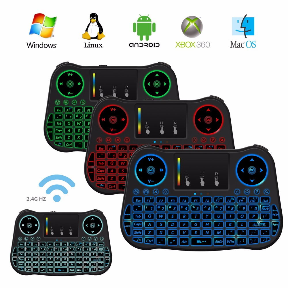 otha mt08 mini wireless keyboard 2 4ghz rainbow backlit keyboard remote control touchpad android. Black Bedroom Furniture Sets. Home Design Ideas