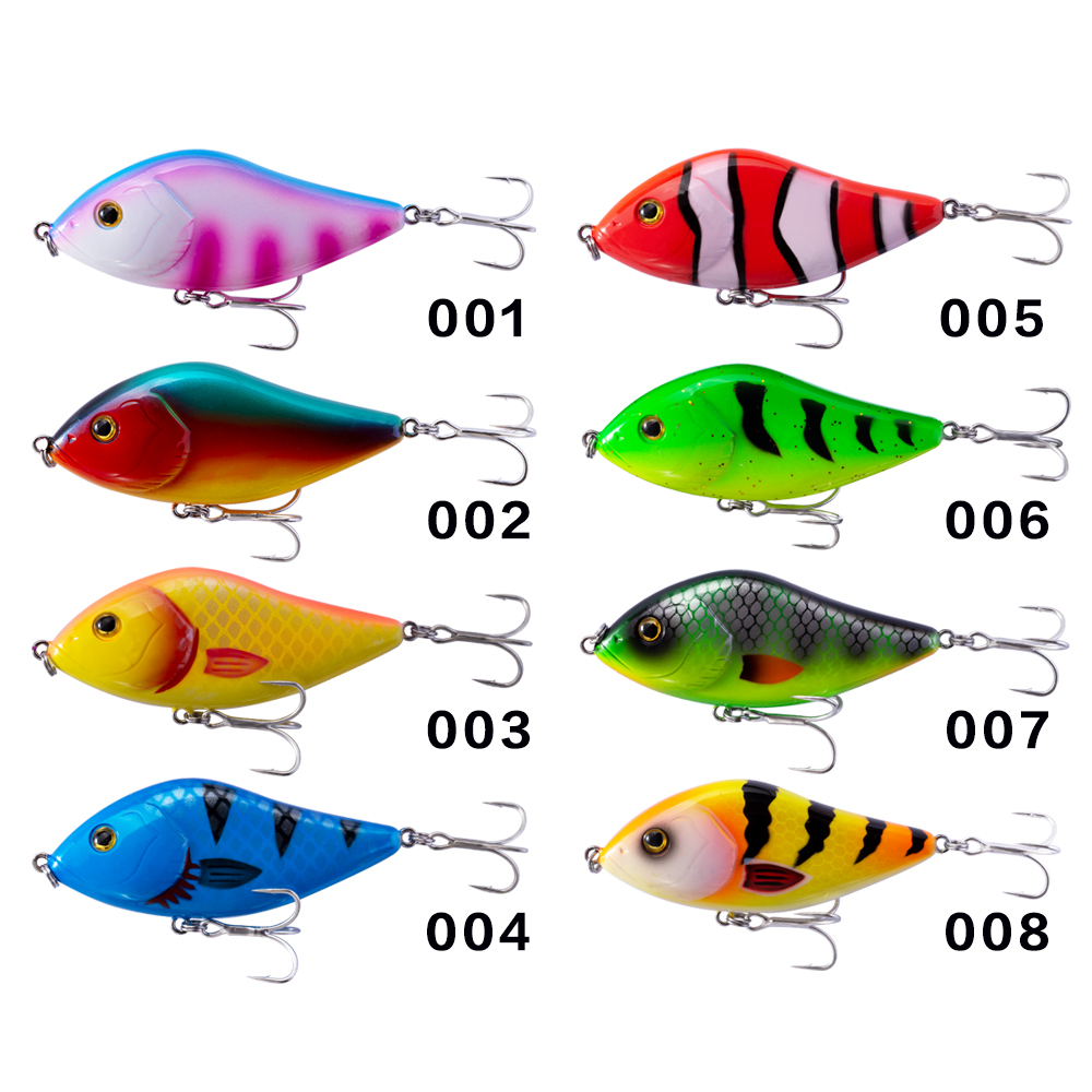 Image 5 - Hunthouse fishing lure pencil VIB jerkbait 7cm/17g 10cm/47g stickbait with VMC hook rainbow color for fishing bass pesca leurre-in Fishing Lures from Sports & Entertainment