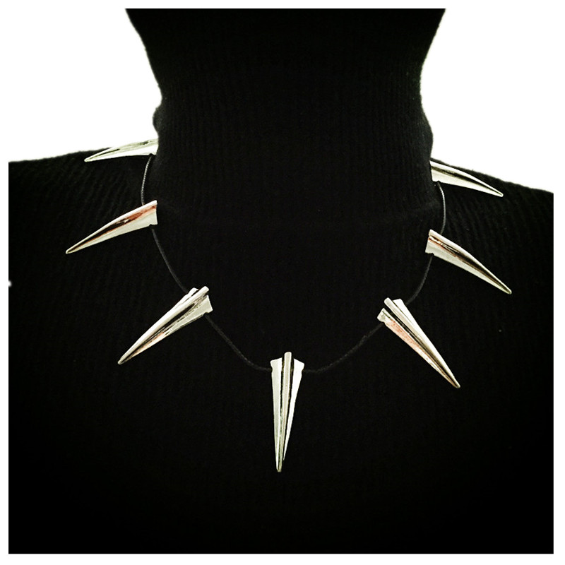 Dropshipping  high quality Black Panther Pendant Necklace Wakanda King T'Challa Black Panther Cosplay Ring Bracelet Accessories