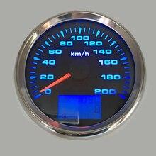 """3-3/"""" Морской gps измеритель скорости лодка измеритель скорости Подходит для audi a3 Автомобиль Мотоцикл с датчиком скорости 85 мм 7 цветов подсветка"""