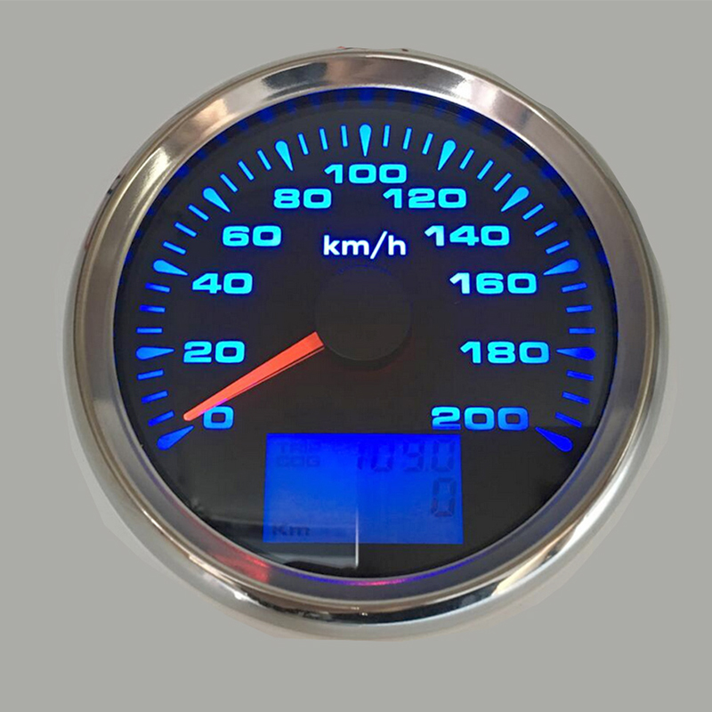 3-3 8inch Marine GPS Speedometer Boat speed meter  fit for audi a3 Car Motorcycle with speedometers sensor 85 mm 7 color backlight