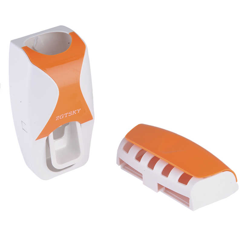 Gorąca sprzedaż automatyczne pasta do zębów dozownik + szczoteczka do zębów zestaw świeczników stojak z uchwytem na ścianę szczoteczki do zębów rodzina Zestawy łazienkowe Drop Shipping