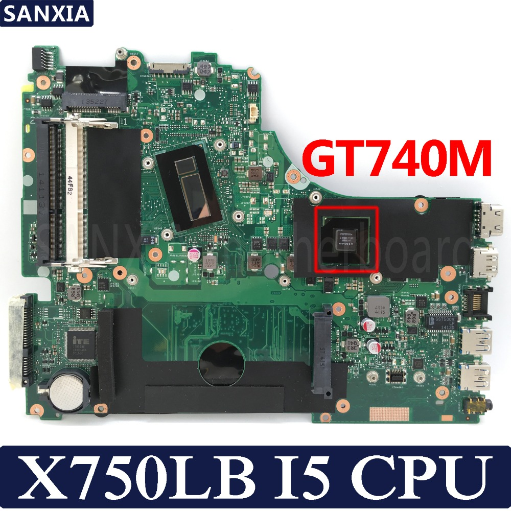 KEFU <font><b>X750LB</b></font> Laptop motherboard for <font><b>ASUS</b></font> <font><b>X750LB</b></font> X750LA X75LN X750L X750 Test original mainboard I5 CPU GT740M image
