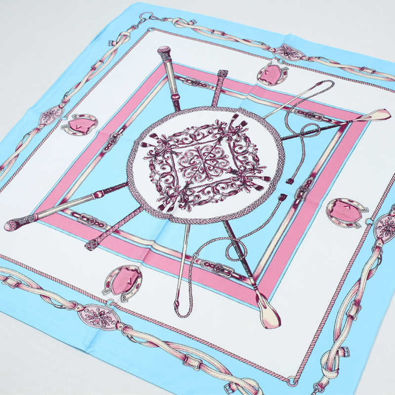 Bufanda de seda 100% de las mujeres Pañuelo cuadrado pañuelo 2019 Foulard de seda Pañuelo cuadrado pequeño de seda bufanda alta calidad FF012
