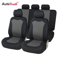 AUTOYOUTH Car Seat Cover Polyester Full Set Universal Automobile Seat Cover For Car Seat Protector Car Styling Auto Accessory