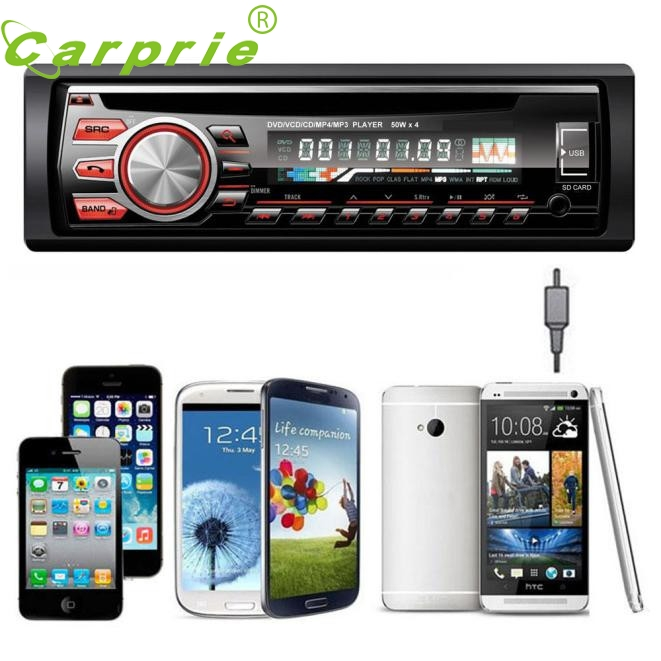 New Car Audio Stereo In-Dash FM DVD CD MP3 Player Receiver USB SD AUX Input 5246 NOV7 1din car dvd radio in dash fm receiver car cd dvd player with usb sd am fm aux input mp3 stereo player lcd screen remote control