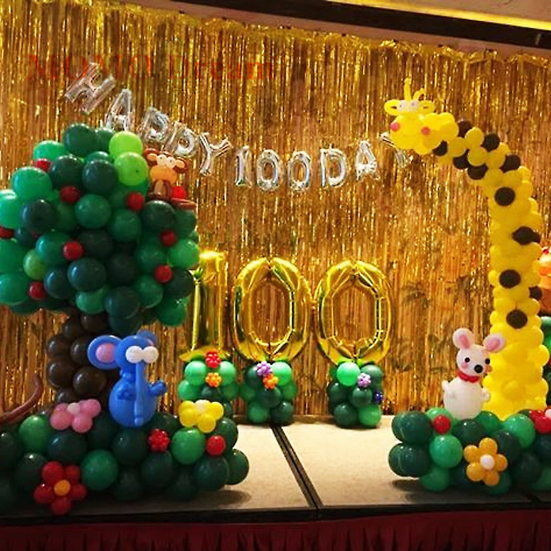 birthday party celebration activities dress sparkling rain curtain balloon christmas new year background decoration wedding room in banners