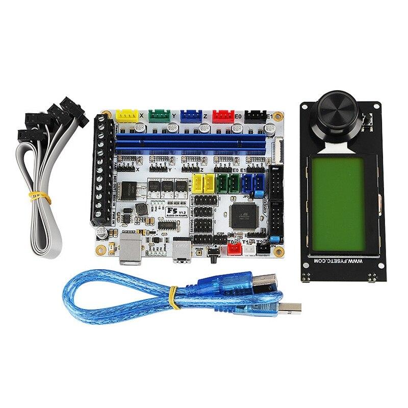 3D Printer Accessories F5 Main Control Board+Mini12864 Lcd Display Support Marlin Diy Kit
