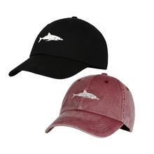 Encanto hombres mujeres Snapback sombrero lavado Casquette Gorras de  béisbol tiburón Rosa bordado sombrero para las mujeres Gorr. 2a500f8906b