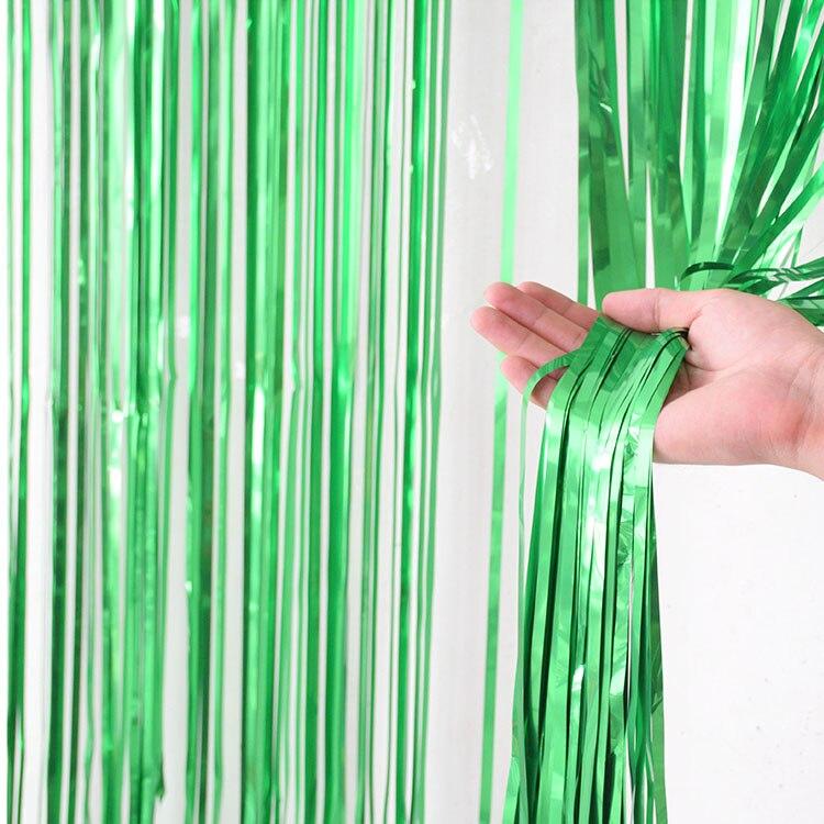 2 м девичник вечерние занавески День Рождения украшения стены Свадебные украшения день рождения украшения для взрослых - Цвет: Green