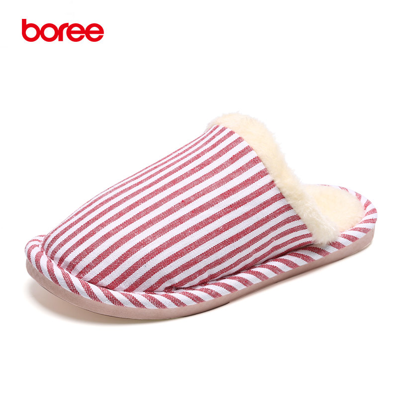 Boree Winter Indoor Slippers Women Cotton-Padded Home Shoes Non-slip Cotton Drag Linen Chausson Home Slippers Bedroom Mujer 55 autumn travel aviation hotel home shoes cotton padded folding slippers women men indoor floor slippers free shipping