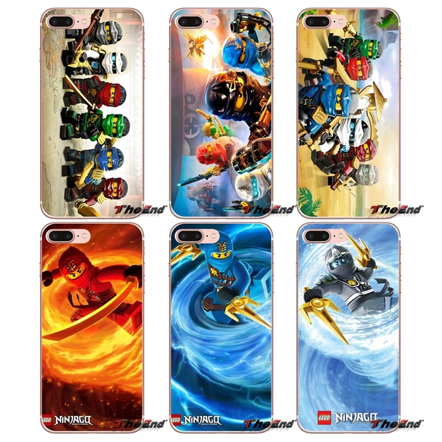 Red lego ninjago kai Pattern For Sony Xperia Z Z1 Z2 Z3 Z5 compact M2 M4 M5 E3 T3 XA Aqua LG G4 G5 G3 G2 Mini Capa Fashion Cases