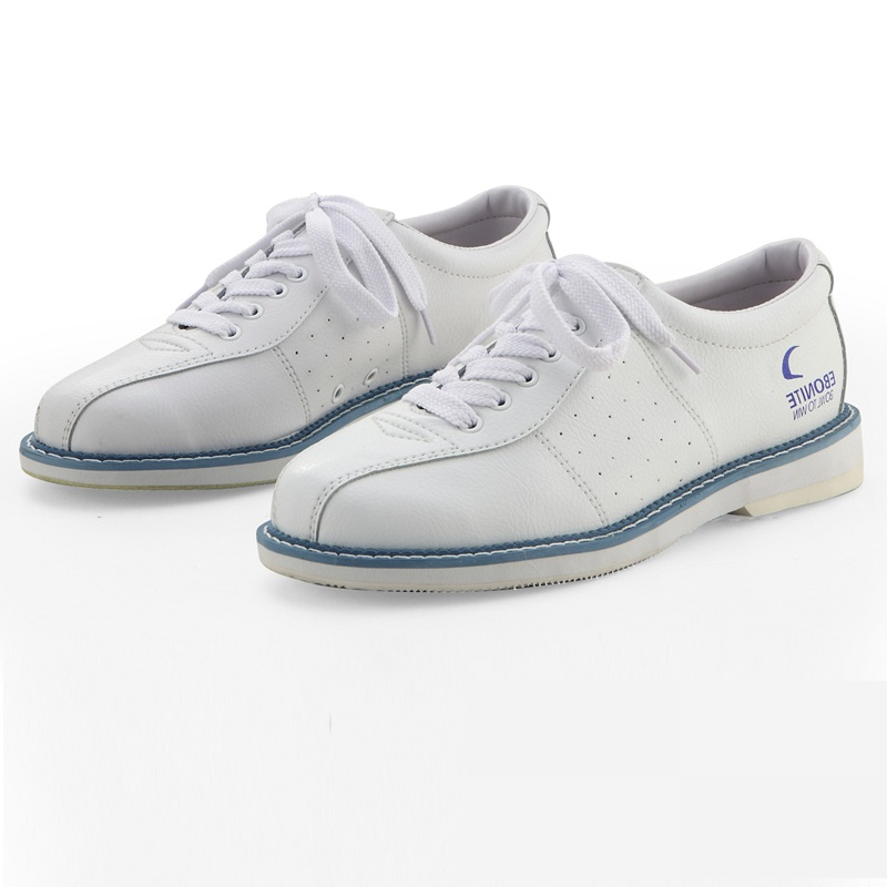 Unisex Shoes For Men Beginners Indoor Male Sports Shoes Catechumen White Bowling Shoes Leather Flat Men