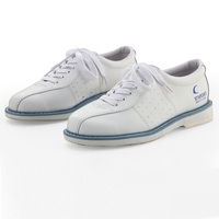 Unisex Shoes For Men Beginners Indoor Male Sports Shoes Catechumen White Bowling Shoes Sneaker Leather Flat