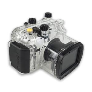 Image 2 - لكانون G11 G12 كاميرا مثبت مضاد للماء PC البلاستيك حالة شفافة غطاء الغوص تصنيف عمق 40 m كاميرا مراقبة وظائف