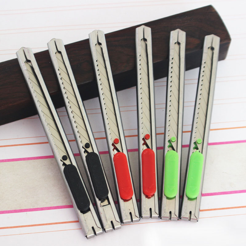 1pcs Utility Leather Knife DIY Art Cutter Tools Art Supplies Cutter Knife Stainless Steel+Plastic