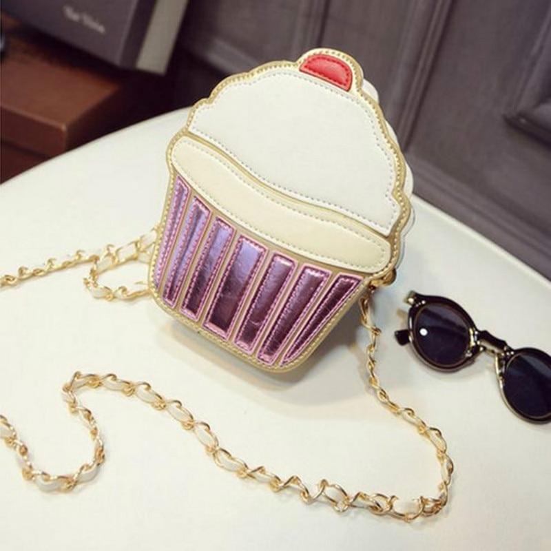 do queque sorvete mulheres bolsa Formato : Cupcake