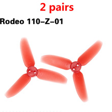 2Pairs Rodeo 110-Z-01 3-Blade Propeller CW/CCW Props Paddle For FPV Racing Drone Walkera