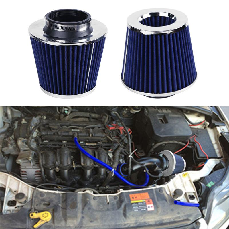 Air Filter Auto Vehicle Car Cold Air Intake Filter Cleaner Funnel Adapter 76mm Inlet Air Filter High Flow High Cold Air Cone