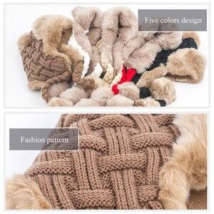 Image 5 - Sombreros de invierno de imitación de piel de zorro para mujer, gorros de bombardero, gorros de lana Ushanka rusa con pompones y orejeras, gorros de aviador