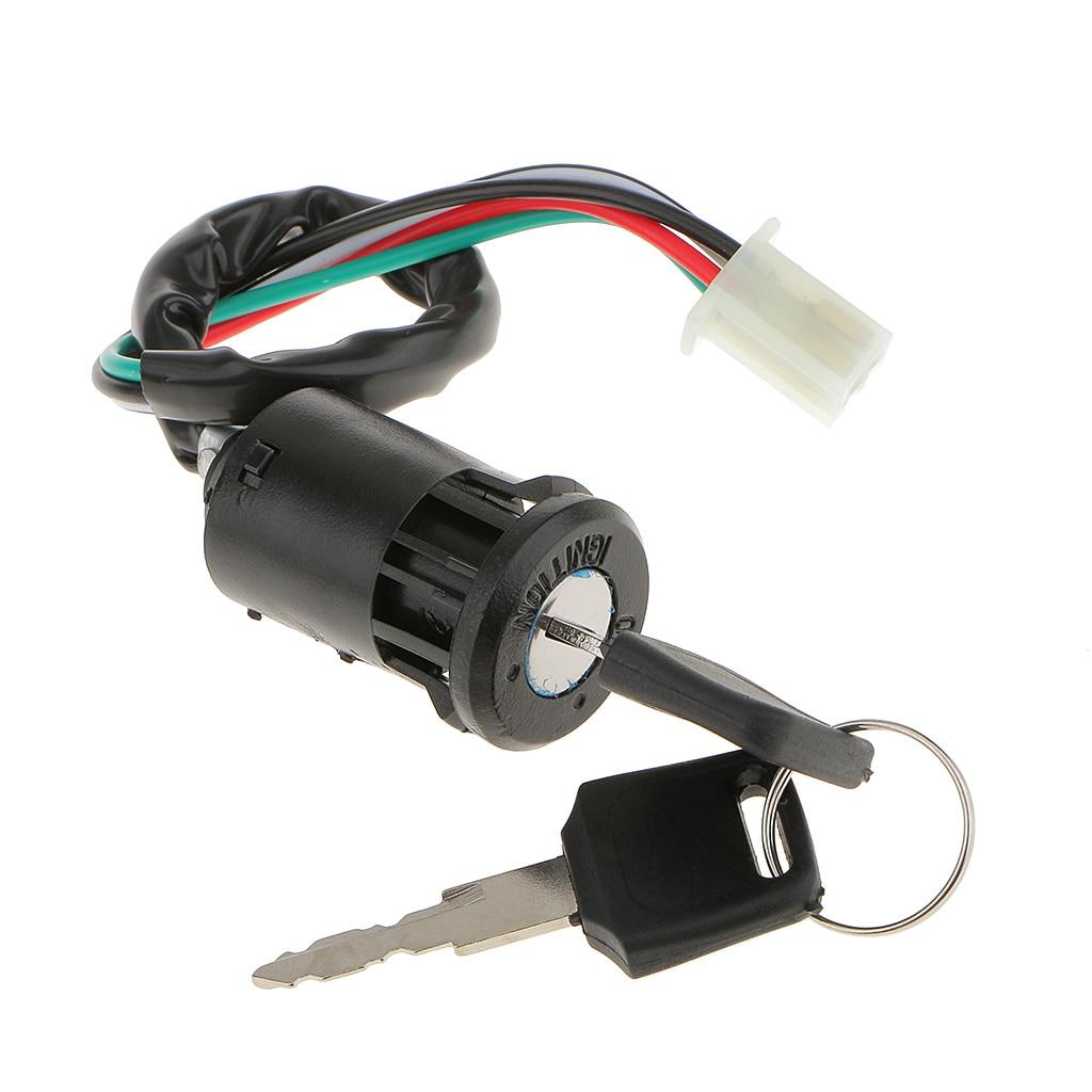 MagiDeal Ignition Key Barrel Switch for 50 110 125 250cc Dirt Bike ATV Buggy