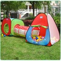 New Portable Children Kids Pop Up Adventure Play Tent House Tunnel Set Indoor Outdoor Garden Playhouse