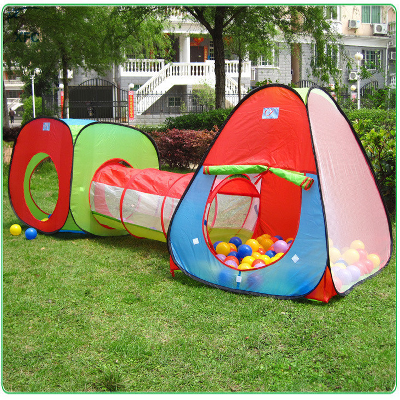 XFC Portable Children Kids Pop Up Adventure Play Tent House Tunnel Set Indoor Outdoor Garden Playhouse Ocean Ball Pit Pool Tent 3 in 1 portable baby playpen children kids ball pool foldable pop up play tent tunnel play house hut indoor outdoor toys fancing