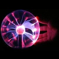 Glass Plasma Ball Light 8 Inch Table Lights Sphere Nightlight Kids Gift For Magic Plasma Luminaria Kids Birthday Gifts