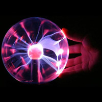 Glass Plasma Ball Light 8 Inch Table Lights Sphere Nightlight Kids Gift For Magic Plasma Luminaria Kids Birthday Gifts