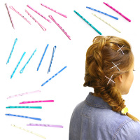LNRRABC10PCS/Set Hot Metal Candy Color Waved Women Fashion Cute Barrette Hairpins Grips HairClips