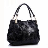 Designer Alligator Bags Women Leather Handbags Spanish Brand Luxury Ladies Hand Bags Fashion Shoulder Bags Black