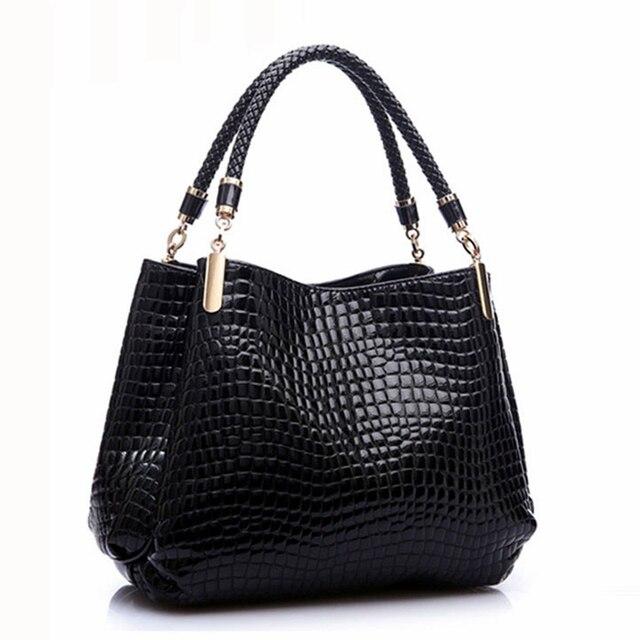 Merk Schoudertassen Dames : Designer alligator tassen vrouwen lederen handtassen