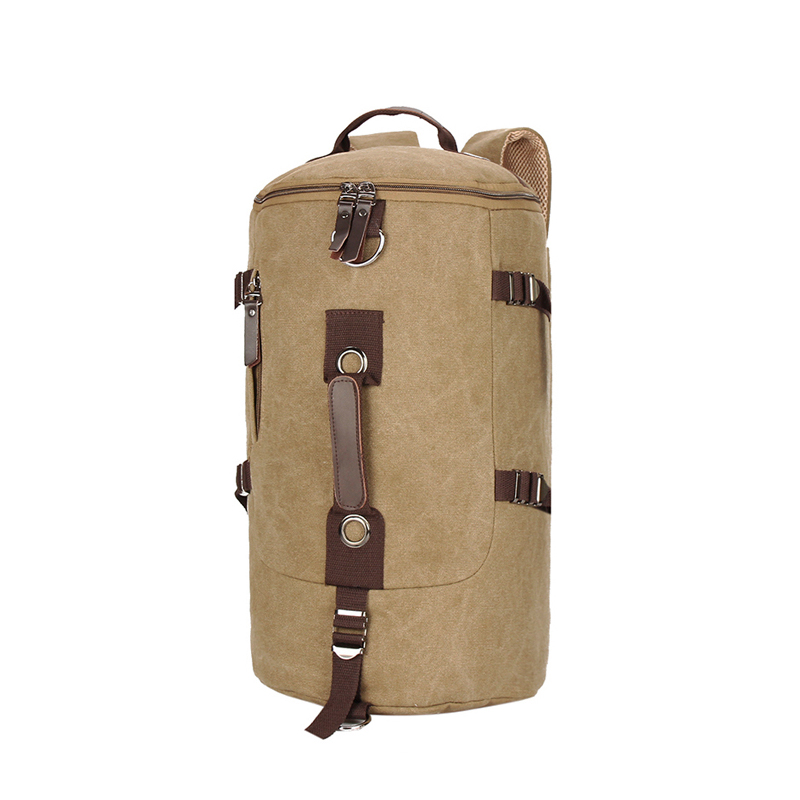 Casual Men's Canvas Backpack Man Travel Bag Mountaineering Backpack Men Bags Canvas Bucket Shoulder Bag