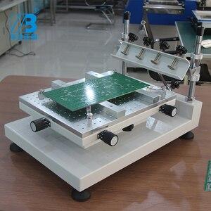 Image 5 - דיוק מתכוונן smt סטנסיל מדפסת ידנית הלחמה להדביק הדפסת מכונה
