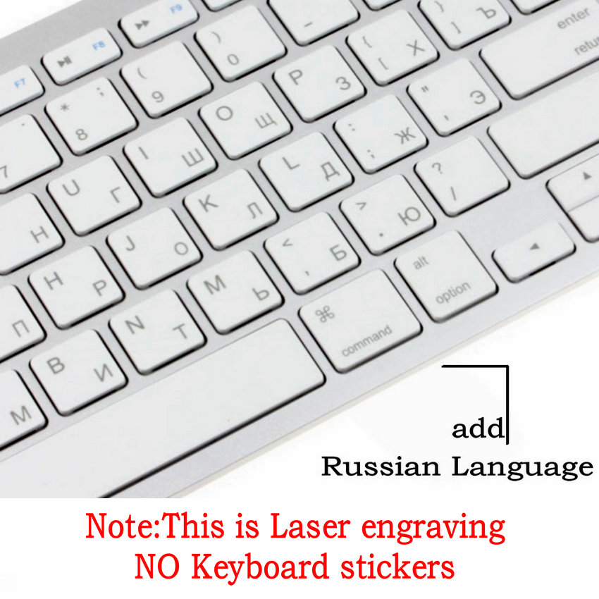 Aliexpress com : Buy Ultra slim 2 4G Wireless Keyboard Russian Spanish  Hebrew Keyboard For iPhone ipad,Macbook,Tablet,PC With Android ios Windows  from