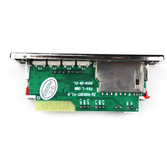 Car Bluetooth MP3 Decoding Board Module Wireless Car USB MP3 Player SD Card Slot / USB / FM / Remote Decoding Board Module 12V