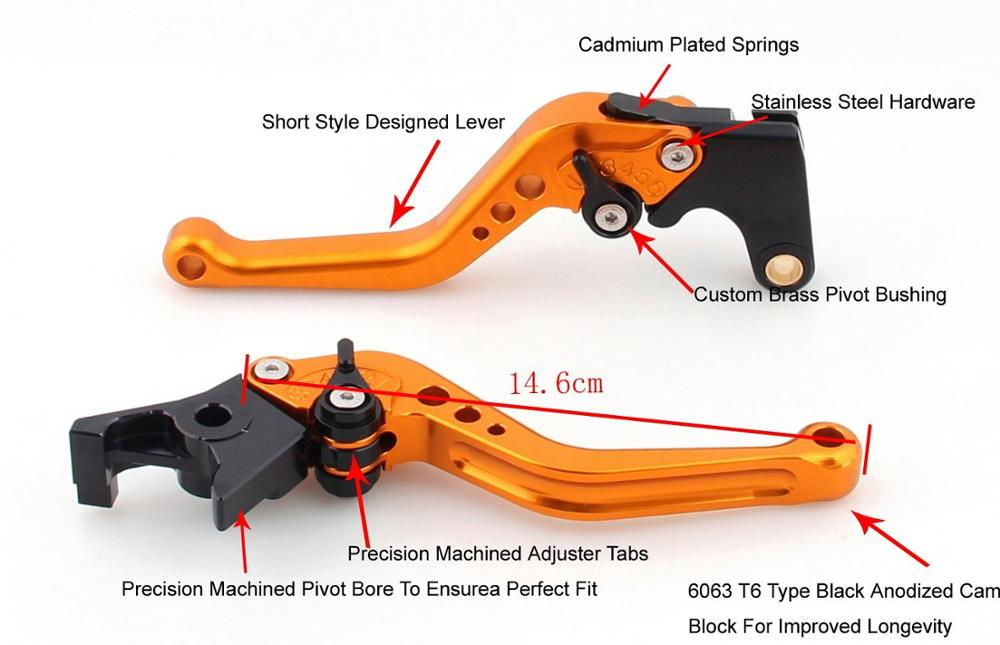 YZF R6 Motorcycle For Yamaha YZFR6 YZF 600 R6 2005 2006 2007 2016 Motorcycle Adjustable CNC Brake Clutch Levers Short Long in Covers Ornamental Mouldings from Automobiles Motorcycles