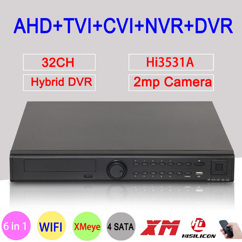 1080P CCTV Camera Hi3531A 32CH 32 Channel 4 SATA 6 in 1 1080N Hybrid Coaxial Wifi Onvif IP XVI NVR TVI CVI AHD DVR Free Shipping gadinan 8ch ahdnh 1080n dvr analog ip ahd tvi cvi 5 in 1 dvr 4ch analog 1080p support 8 channel ahd 1080n 4ch 1080p playback