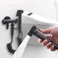 Bathroom black shattaf bidet set shower bidet kit faucet Women PP wash spray gun bidet shower set sprayer bidet shower set