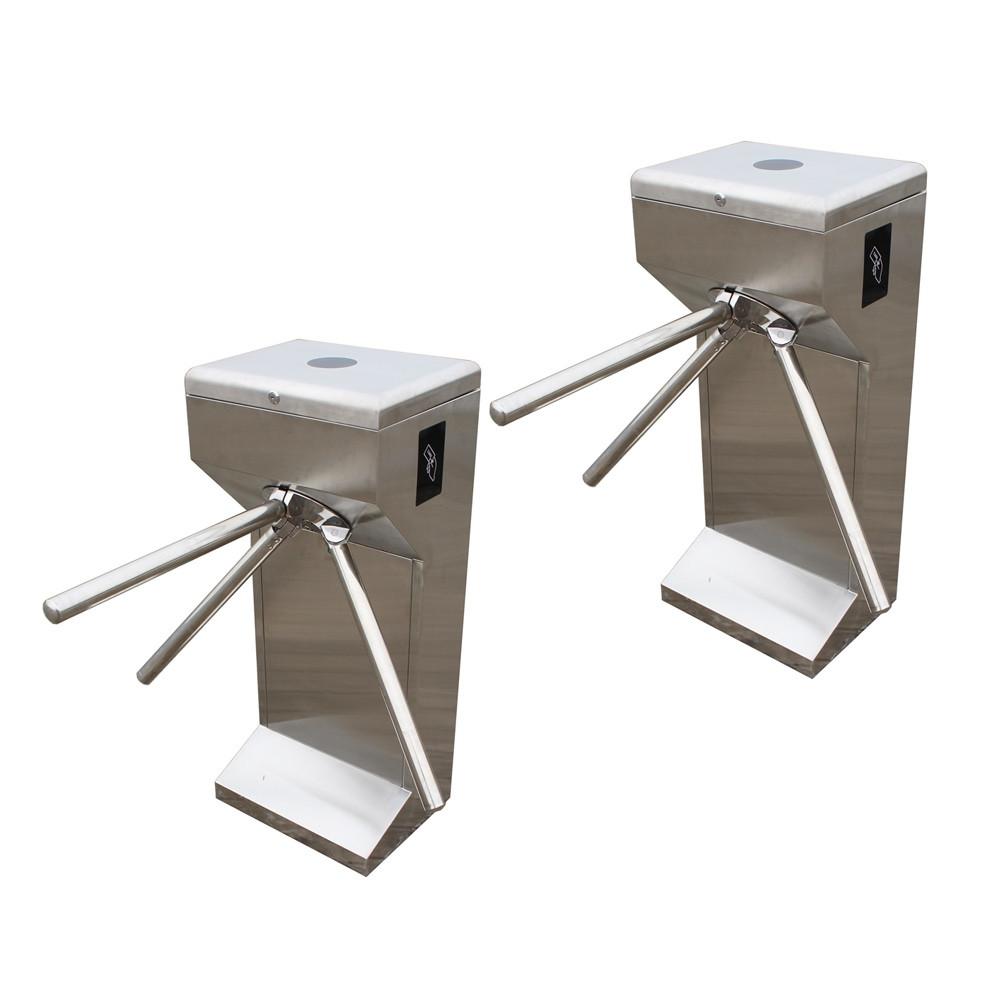 Factory price rfid reader stainless steel full automatic vertical tripod turnstile access control system factory price vertical semi automatic tripod turnstile gate