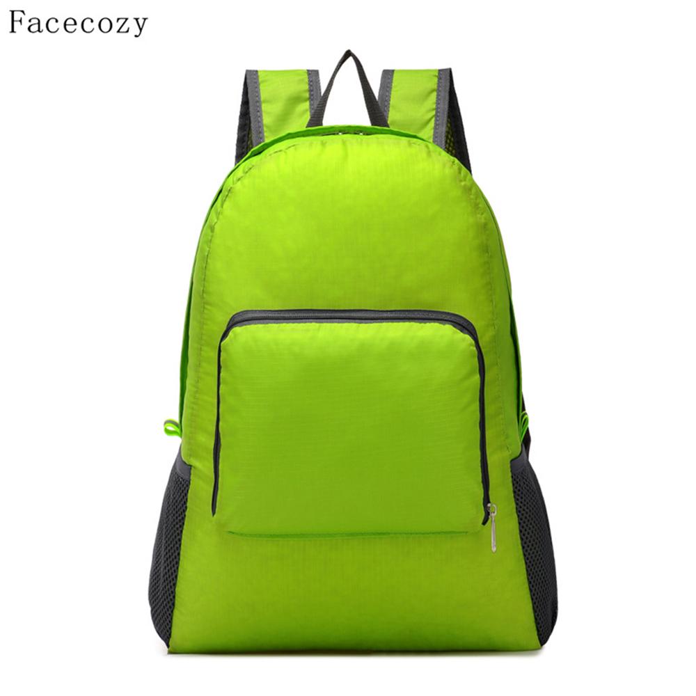 Facecozy New Outdoor Sports Par Ultralight Portable Bag Kvinner og menn Ultra-Thin Beach Tourist Backpacks