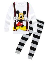 Novas crianças Projeto Dos Desenhos Animados Em Torno Do Pescoço Dos Meninos de Algodão de manga comprida pijamas Pijamas Set Para Crianças Meninas Meninos Pijamas 3 ~ 8 Ano
