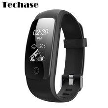 Techase Новинка 2017 года ID107 плюс HR cicret браслет монитор сердечного ритма фитнес-часы с GPS трекером Pulseira inteligente rastreador Saat
