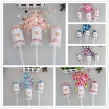 10 pz/lotto cuore Push Pop Confetti popper matrimonio Baby sposa doccia decorazione festa di compleanno giocattoli per bambini forniture