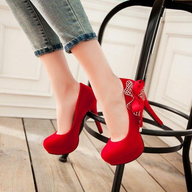 12 см Высокие Каблуки Насосы Свадебная Обувь Sexy Высокие Каблуки Туфли На Платформе Sys-1055