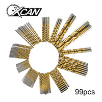 Newest 99pcs Set Titanium Coated HSS High Speed Steel Drill Bit Set Tool 1 5mm 10mm